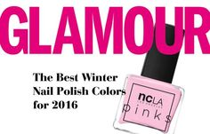 """12.06.16 // Glamour: The Best Winter Nail Polish Colors for 2016 // The NCLA Pinks Collection in Bubblegum Pink was featured on Glamour's 'The Best Winter Nail Polish Colors for 2016' list! """"Ah, winter. We love you for so many reasons, but mainly because you're the perfect backdrop for a Starbucks cup and manicure Instagram. #Sorrynotsorry..."""" #shopNCLA #NCLA #nailpolish #naillacquer #nailwraps #designernailwraps #NCLAnailwraps #pinknailpolish #BubblegumPink #GLAMOUR #GLAMOURmag…"""