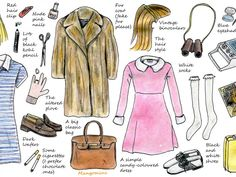 In this week's illustrated how-to, I've tried to give you some Halloween dressing up inspiration. It shows you what you need to dress up like two of my favorite Wes Anderson movie characters: Margot Tenenbaum and Suzy Bishop. I think a lot of these items are easy to find in any charity- or vintage shop (if they're not already in your closet). Have a good week!