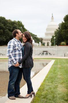 Jacqueline & Blair's Washington, DC engagement session at the Capitol Building!