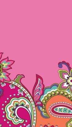 Dress your tech: Pink Swirls Mobile Wallpaper | Vera Bradley