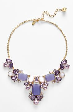 So pretty | Crystal lilac Kate Spade statement necklace.