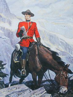 Canadian Mountie RCMP High mountains on Horse
