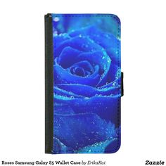 Blue Roses Samsung Galxy S5 Wallet Case