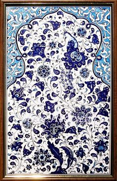 Mine Hediyelik - Kültür Sanat Galerisi -Promosyon,Takı,Çini,Bakır,Çini seramik obje ve pano,Hat Ceramic Wall Tiles, Tile Art, Ceramic Painting, Diy Painting, Ceramic Art, Turkish Tiles, Turkish Art, Islamic Art Pattern, Pattern Art