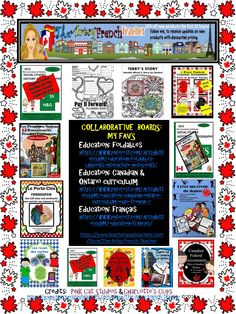 Want to join some wonderful, collaborative boards?  Education: Canadian & Ontario Curriculum & EQAO (French & English Resources); Education: français: Education: Foldables, Lapbooks, Interactive Notebooks and Templates - Contact:  theartsyfrenchteacher@gmail.com, follow boards, send Pinterest url.