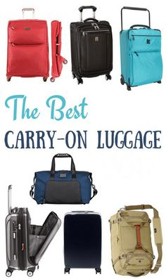 We've reviewed the best carry-on luggage of 2020 with expert tips on what to look for when shopping for the lightest and most durable cabin bags! #carryonluggage #luggagetips #carryononly #carryontravel