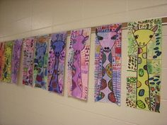 WHAT'S HAPPENING IN THE ART ROOM??: 3rd Grade Giraffes