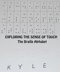 Free Braille Alphabet Chart from The Preschool Toolbox