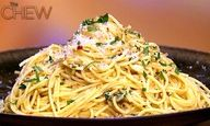 Michael Symon's Angel Hair with Olive Oil, Garlic and Chili Flake Recipe #thechew