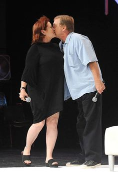 Carrie Fisher and Mark Hamill attends Star Wars Celebration V at Orange County Convention Center on August 14 2010 in Orlando Florida