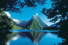 Mirror in Milford Sound, New Zealand