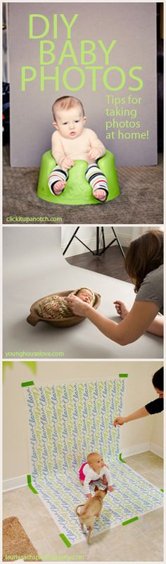 Taking your own baby photos!  Tips for a DIY baby photo shoot