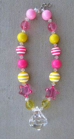 Pink Lemonade Chunky Bubblegum Necklace