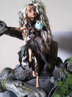 OoaK Monster hoch Repaint Lady der Vögel