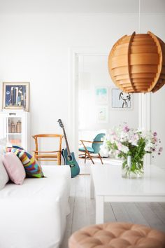 A Swedish White Home With Bits Of Color