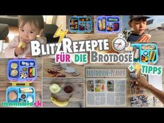Rezepte und Tipps für die Brotdose ⏱⚡️  Schule und Kindergarten   Bentgo Box   mamiblock - YouTube Healthy Fruits, Healthy Snacks, Check Up, Host A Party, Children, Kids, Lunch Box, Baseball Cards, Youtube