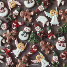 Christmas mini cookies