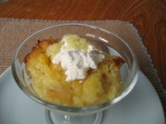 Pineapple Souffle ~  It is like a cross between bread pudding and pineapple candy...absolutely delicious.   Mom used to make it for Christmas and Easter when we would have ham, but it is such a fast simple dish that it could be made anytime...I dare you to try it!!...You'll be so glad you did.