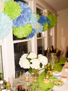 Lime and Blue Cocktails
