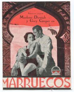 MARRUECOS PROGRAMA ORIGINAL MARLENE DIETRICH Y GARY COOPER