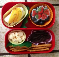 Making toddler food fun! My son is a vegetarian, almost vegan- nut/peanut free, gluten free, milk free (string cheese, mac and cheese sauce and yogurt drops are ok) and he dislikes meats too. Feeding Hayden is something from a different planet for me, but I just love creating bento boxes for his mall trips with grandma, grandpa and auntie.