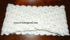 Shell Twisted Cowl Neck ~ free pattern