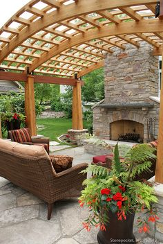 Backyard Fireplace and Pergola Maple Grove 76 | Flickr - Photo Sharing!