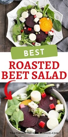 Beet Salad with Blue Cheese and Hearts of Palm - An elegant, tasty beet salad! Plus tips for roasting beets for all your favorite beet recipes.