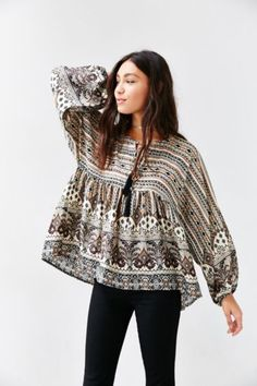 Glamorous Printed Boho Tunic - Urban Outfitters