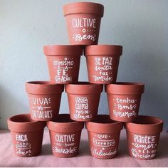 Painted Clay Pots, Painted Flower Pots, Garden Deco, Garden Pots, Car Interior Decor, Wheel Thrown Pottery, Lettering Tutorial, Posca, Japanese Pottery