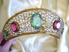 Antique jeweled crown