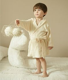 Organic Shop 100 Organic Cotton Baby Hooded Bath Towel Bath Robe 324 Months * Want to know more, click on the image.-It is an affiliate link to Amazon.