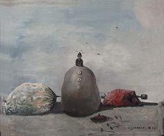 Alpo Jaakola: Still Life in the Nature, 1956 Still Life, Surrealism, Artist, Nature, Crafts, Painting, Manualidades, Painting Art, Handmade Crafts