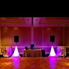 Dance floor with standard wedding DJ setup. www.fonixentertainment.com