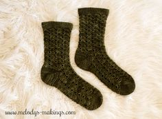 """Guest designer, Julie, of ACCROchet is on a mission to show the world how awesome crochet socks can be. After receiving and photographing her amazing Wildings Socks, shes got me totally convinced.crochet socks can be just as great as knit socks! Crochet Socks Pattern, Crochet Gloves, Crochet Slippers, Crochet Patterns, All Free Crochet, Cute Crochet, Knit Crochet, Knitting Socks, Knit Socks"