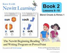 Newitt Book 2 PowerPoint: Blend Onsets and Rimes 1, Lessons 9–10 (Prereading Series)