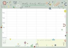 Organise your life with our newly designed weekly planner!