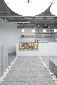 Cafe Interior Design, Cafe Design, Store Design, 3d Printed House, Concept Shop, Tile Stores, Coffee Shop Design, Cafe Shop, Cafe Restaurant