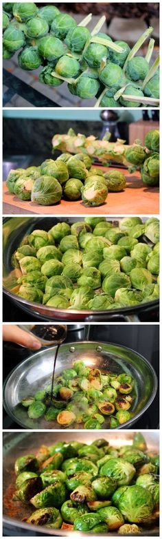 Asian Sesame Glazed Brussels Sprouts