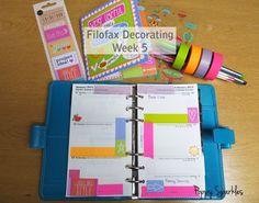 Poppy Sparkles lifestyle blog: :: Filofax Decorating Week 5
