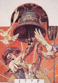 JC Leyendecker - Ringing the Liberty Bell