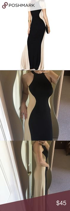 ✨Stunning Silhouette Halter Maxi Evening Dress✨ Stunning, classy, and amazingly comfortable silhouette halter evening dress. Polyester/spandex material. Feels incredible on and so flattering! Boutique Dresses Maxi
