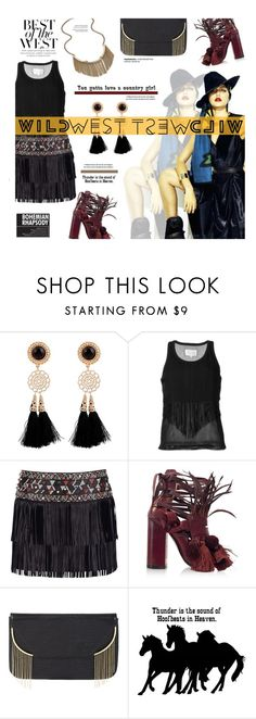 """Wild West Style"" by edenslove ❤ liked on Polyvore featuring Maison Margiela, Valentino, N°21, BCBGMAXAZRIA and Lipsy"