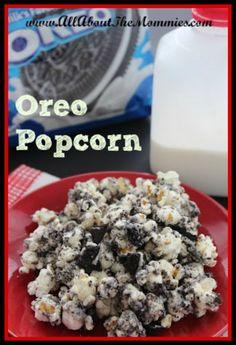 Recipe: Oreo Popcorn - All About the Mommies #recipes #oreos