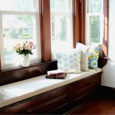 Tutorial for how to make your own DIY window seat cushion!  No sewing or expensive equipment needed!