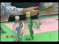 Porta-treco de garrafa pet | Professor Sassá