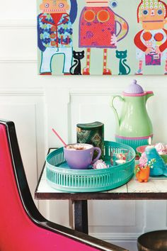 Being a fan of Scandinavian interiors I'm loving home wares company RICE Denmark. Their style is about fun, colour, pattern and enjoying informal living.