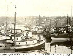 Fishing boats, Lake Union, Seattle, 1921