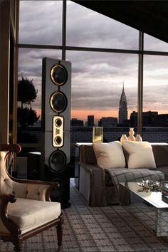 Звук Установка в пентхаус в Нью-Йорке Steinway Lyngdorf в.