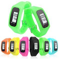 Batteria A lunga durata 6 Colors Multifunzione Digitale LCD Pedometro Run Passo Caloria Walking Distance Contatore Ad Alta Qualità